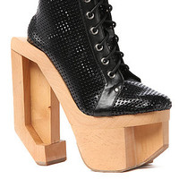 Jeffrey Campbell Sneaker Indie Punched in Black