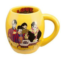 Vandor LLC 64364 The Beatles Yellow Submarine 18-Ounce Oval Ceramic Mug, Multicolored