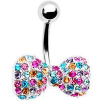 Multi Gem Bow Tie Belly Ring | Body Candy Body Jewelry