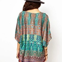Band Of Gypsies Kimono Jacket In Indian Print at asos.com
