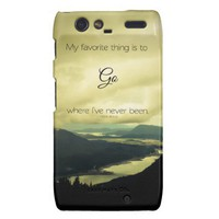 Where I've Never Been Droid RAZR Barely There Case from Zazzle.com