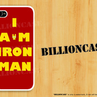 I am Iron Man - iPhone 4 Case iPhone 5 Case iPhone 4s Case idea case Galaxy Case Hard Plastic Case Rubber Case Movie Parody