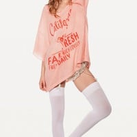 FARM FRESH LAKE HOUSE T at Wildfox Couture in  POODLE PINK, -CLEAN WHITE