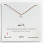 Dogeared &#x27;Wish&#x27; Wishbone Charm Necklace | Nordstrom
