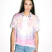 Lazy Oaf | Tie Die Gem Collar Crop Shirt