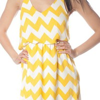 Zig Zag Dress - Yellow from Casual & Day at Lucky 21 Lucky 21