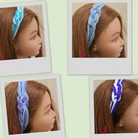 Colorful Sailor Knot Headband Crochet Sailor Knot Hairwrap (set of 2) - By Piyoyo