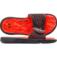 Under Armour Women&#x27;s Ignite Slide - Black/Orange | DICK&#x27;S Sporting Goods