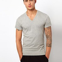 Jack & Jones Intelligence Basic V Neck T-Shirt at asos.com