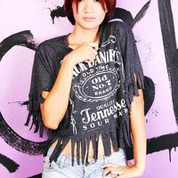 Jack Daniel's Tennessee Whiskey Crop Top by SoYouThinkYouCanRock