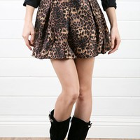RS5007 Leopard Satin Skirt and Shop Apparel at MakeMeChic.com