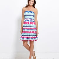 Womens Summer Dresses: Carolina Stripe Strapless Dress - Vineyard Vines