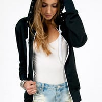 Stud My Crossed Back Hoodie $35