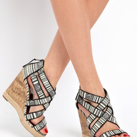 New Look Fella Crossover Caged Wedge Sandals