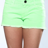 DJPremium.com - Women - Shop by Brand - DJP OUTLET - Shorts - Black Orchid Black Star Neon Cut Off Short