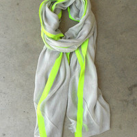 Yellow Highlighter Scarf [3938] - $16.00 : Vintage Inspired Clothing &amp; Affordable Fall Frocks, deloom | Modern. Vintage. Crafted.