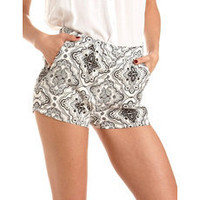 Paisley Print Challis Short: Charlotte Russe
