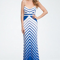 Empire Waist Stripe Maxi Dress