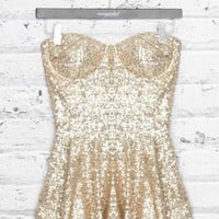 SEQUIN PEPLUM TANK
