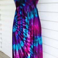 Tie Dye Smocked Skirt/Sundress