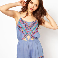 River Island Harrier Tie Dye Coachella Playsuit