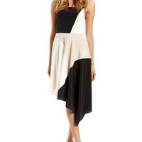 Irregular Black White Chiffon Women Dress at Online Apparel Store Gofavor