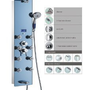 Blue Ocean 52&quot; Stainless Steel SPV878392H Shower Panel with Rainfall Shower Head, 8 Adjustable Nozzles, and Spout
