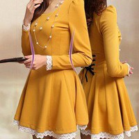 fancybuy  three color sweet Warehouse Lace Top Dress