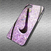 NIke Basketball Ball Glitter Art black / white hard plastic photo for iPhone 4/4s case and iPhone 5 case