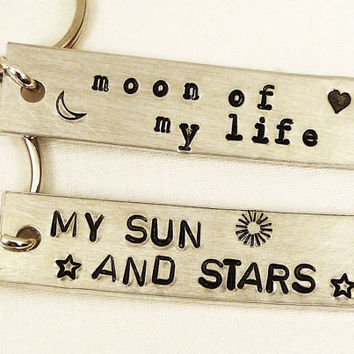 My Sun and Stars - Moon of My Life - Game of Thrones - Aluminum Key Chain Set
