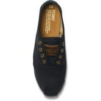 Black Canvas Women's Cordones | TOMS.com