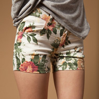 Florals Print Shorts for Women