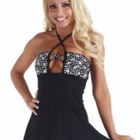 Sex Symbol Flair Tube Dress w/ Rhinestone Trim 3-179 (Available in a Variety of Colors & Sizes)