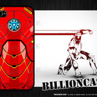 Arc Reactor and Red Armor - iPhone 4 Case iPhone 5 Case iPhone 4s Case idea case Galaxy Case Movie Parody IronMan