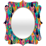 "Vy La ""Love Birds 1"" Quatrefoil Mirror"