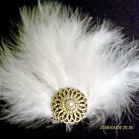 White Feather Fascinator by ghostgap