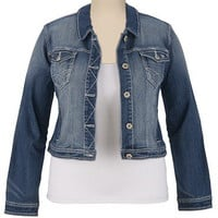 Maurices Premium Cropped Denim Jacket