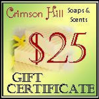 Gift Certificate 25 dollars Crimson Hill soaps by crimsonhill