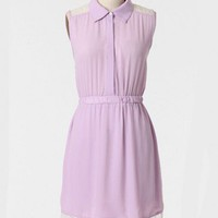 Annette Lace Detail Dress In Lavender at ShopRuche.com