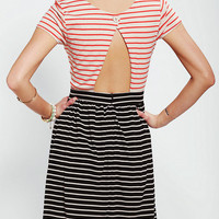 Urban Outfitters - Stussy Cutout-Back Stripe Dress