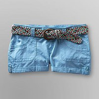 Bongo- -Junior's Cuffed Poplin Shorts & Belt-Clothing-Juniors-Shorts