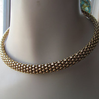 Basket weave choker, 1980 mesh collar, collectible gifts