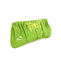 Laura Matthews Designs Clutch Womens Green Patent Leather No Box