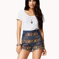 High-Waisted Boho Cut Offs
