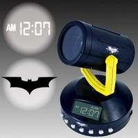 Amazing Batman Signal Projection Alarm Clock - Projects The Bat Signal