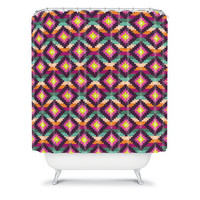 DENY Designs Home Accessories | Bianca Green Aztec Diamonds Hammock Shower Curtain