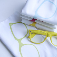 Fancy Hipster Nerd Eye Glasses Dinner Napkins in Pop Color- Set of FOUR