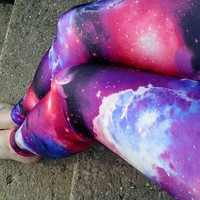 Galaxy Nebula Leggings pants Space your size geek planet stars Space