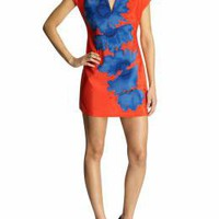 Susana Monaco Pop Art Print Front Slit Dress