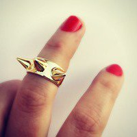 alapop — gold spikes knuckle ring